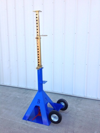 High Clearance Sprayer Jack Stand Extended